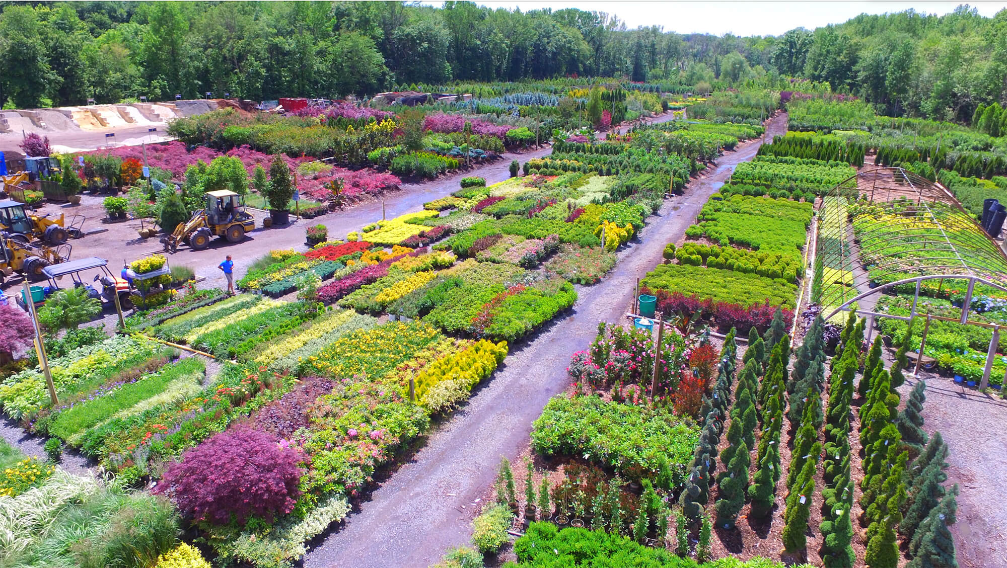 Aerial Photograph Of Pantano Nursery In Monmouth County New Jersey